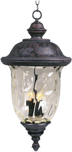 "14""w Carriage House Die-Cast Aluminum 3-Light Outdoor Hanging Lantern Oriental Bronze"