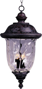 Maxim Carriage House Vivex 3-Light Outdoor Hanging Lantern Oriental Bronze 40428WGOB