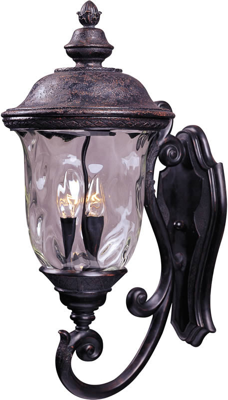 "27""h Carriage House Vivex 3-Light Outdoor Wall Mount Oriental Bronze"