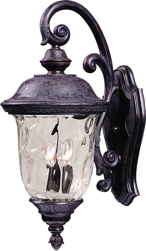 "20""H Carriage House Vivex 2-Light Outdoor Wall Mount Oriental Bronze"