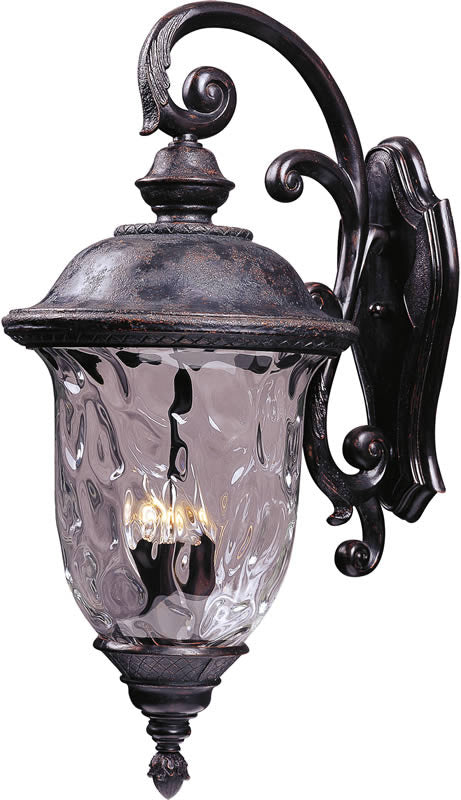 "31""h Carriage House Vivex 3-Light Outdoor Wall Mount Oriental Bronze"
