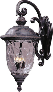 Maxim Carriage House Vivex 3-Light Outdoor Wall Mount Oriental Bronze 40498WGOB