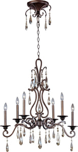 Maxim Chic 6-Light Chandelier Heritage 14308HR