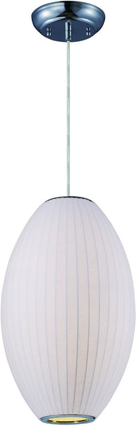 Maxim Cocoon 1-Light Chandelier Polished Chrome 12188WTPC