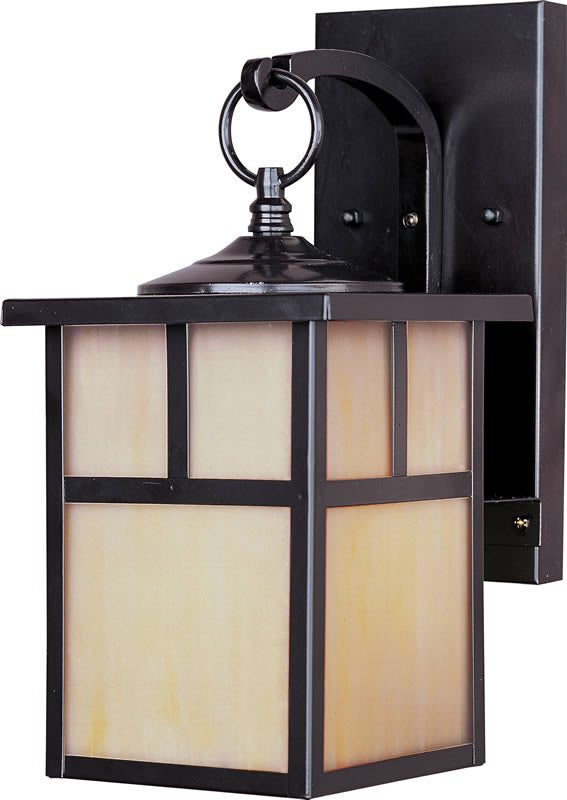 "12""H Craftsman Aluminum 1-Light Outdoor Wall Mount Burnished"