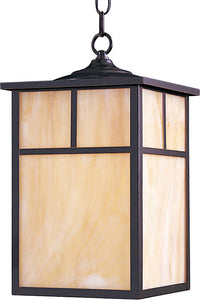 Maxim Craftsman Aluminum 1-Light Outdoor Hanging Lantern Burnished 4058HOBU