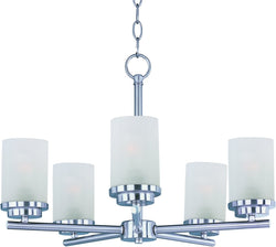 Maxim Corona 5-Light Chandelier Satin Nickel 10205FTSN
