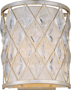 Maxim Diamond 1-Light Wall Sconce Golden Silver 21458OFGS