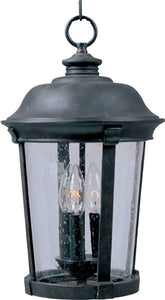 Maxim Dover Vivex 3-Light Outdoor Hanging Lantern Bronze 40099CDBZ