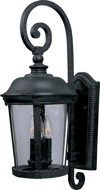"25""h Dover Vivex 3-Light Outdoor Wall Mount Bronze"