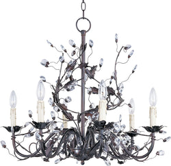 "27""W Elegante 6-Light Chandelier Oil Rubbed Bronze"