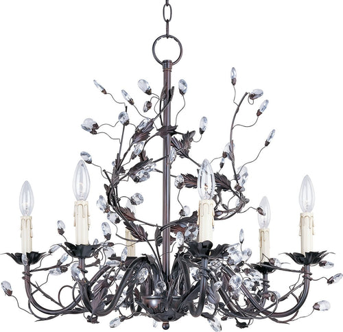 Maxim Elegante 6-Light Chandelier Oil Rubbed Bronze 2851OI