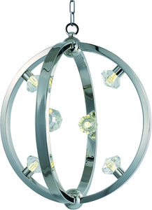 Equinox LED Pendant Polished Nickel