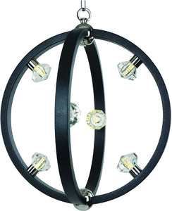 Maxim Equinox LED Pendant Textured Black / Polished Nickel 39102BCTXBPN