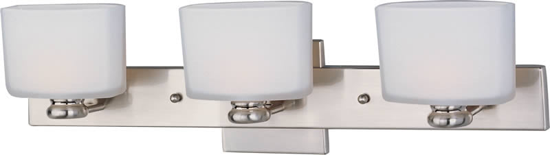 "23""w Essence 3-Light Bathroom Vanity Satin Nickel"