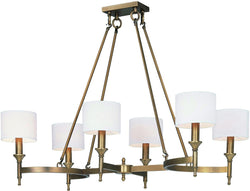 Maxim Fairmont 6-Light Chandelier Natural Aged Brass 22376OMNAB