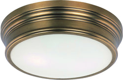 Maxim Fairmont 2-Light Flush Mount Natural Aged Brass 22370SWNAB