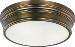 Maxim Fairmont 3-Light Flush Mount Natural Aged Brass 22371SWNAB