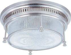 Maxim Hi-Bay 2-Light Flush Mount Satin Nickel 25000CLSN