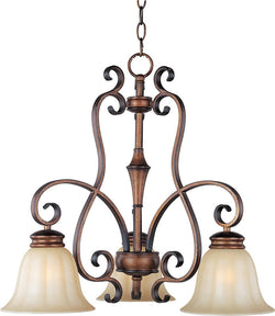 "23""w Fremont 3-Light Down Light Chandelier Platinum Dusk"