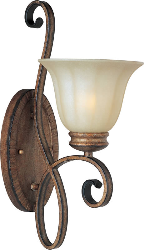 "7""w Fremont 1-Light Wall Sconce Platinum Dusk"