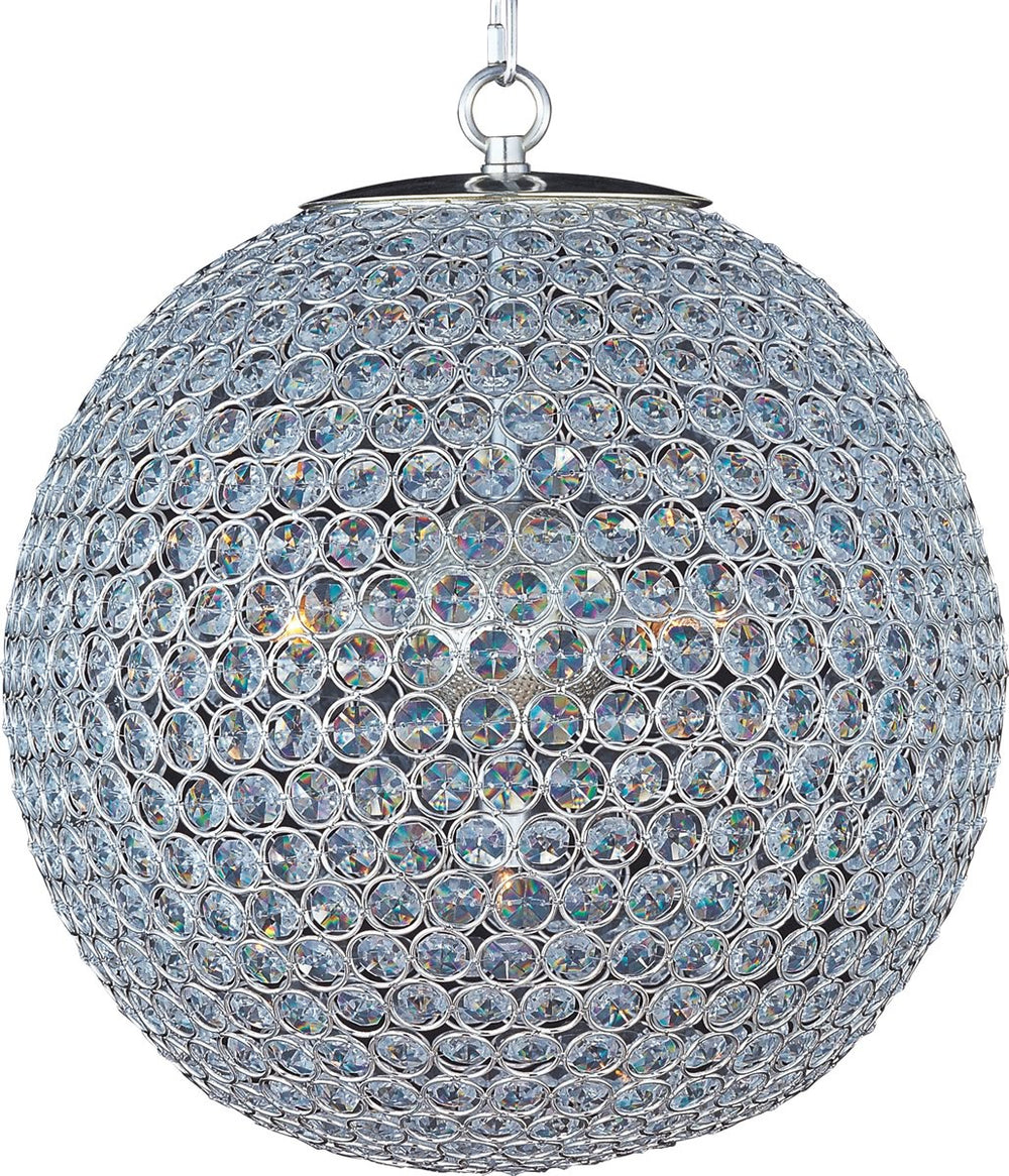"16""W Glimmer 5-Light Chandelier Plated Silver"