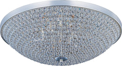 Maxim Glimmer 6-Light Flush Mount Plated Silver 39872BCPS