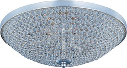 "22""w Glimmer 9-Light Flush Mount Plated Silver"