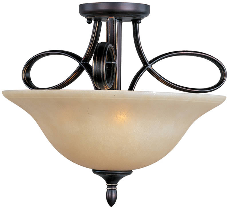 "18""W Infinity 3-Light Semi-Flush Mount Oil Rubbed Bronze"