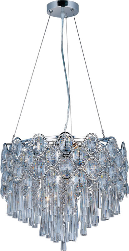 "18""W Jewel 12-Light Pendant Polished Chrome"