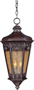"14""W Lexington Vivex 3-Light Outdoor Hanging Lantern Colonial Umber"