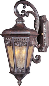 "21""H Lexington Vivex 3-Light Outdoor Wall Mount Colonial Umber"