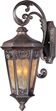 "28""H Lexington Vivex 3-Light Outdoor Wall Mount Colonial Umber"