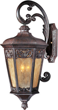 "30""H Lexington Vivex 3-Light Outdoor Wall Mount Colonial Umber"