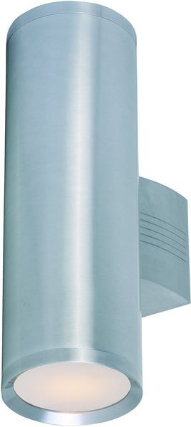 Maxim Lightray 2-Light Outdoor Wall Light Brushed Aluminum 6102AL