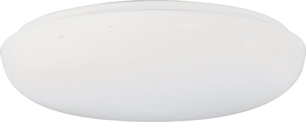 "12""w Low Profile 1-Light Flush Mount White"