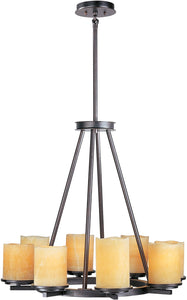 Maxim Luminous 8-Light Single-Tier Chandelier Rustic Ebony 21145SCRE