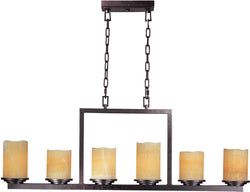 Maxim Luminous 6-Light Chandelier Rustic Ebony 21148SCRE