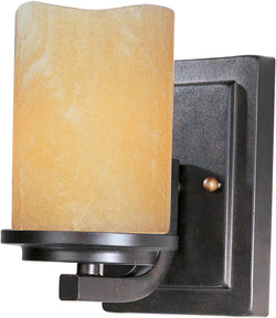 Maxim Luminous 1-Light Wall Sconce Rustic Ebony 21141SCRE