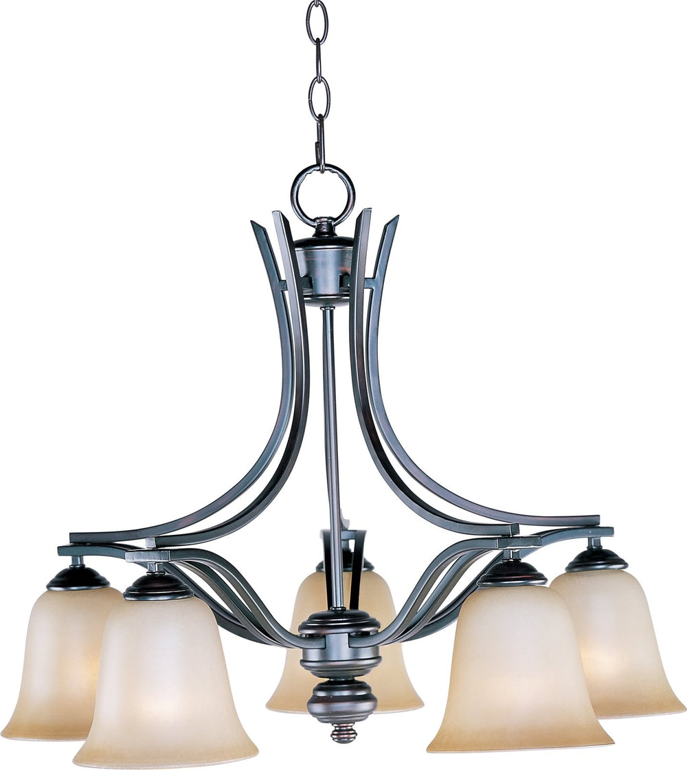"25""w Madera 5-Light Down Light Chandelier Oil Rubbed Bronze"