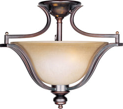 "20""w Madera 3-Light Semi Flush Mount Oil Rubbed Bronze"