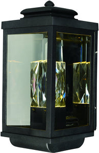 Maxim Mandeville LED 2-Light Outdoor Wall Lantern Galaxy Black 53524CLGBK