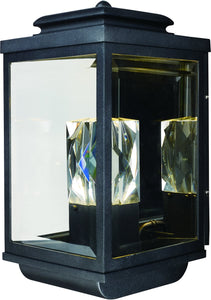 Maxim Mandeville LED 2-Light Outdoor Wall Lantern Galaxy Black 53526CLGBK