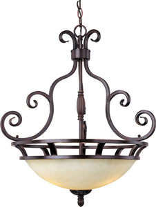 "23""w Manor 3-Light Inverted Bowl Pendant Oil Rubbed Bronze"