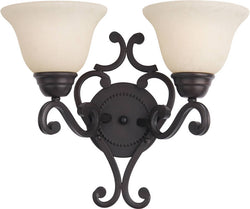 Maxim Manor 2-Light Wall Sconce Oil Rubbed Bronze 12212FIOI