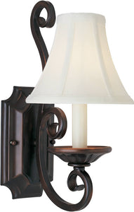 Maxim Manor 1-Light Wall Sconce Oil Rubbed Bronze 12217OISHD123