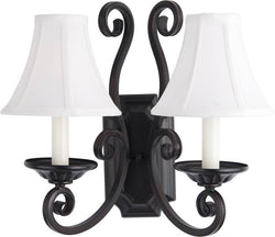 Maxim Manor 2-Light Wall Sconce Oil Rubbed Bronze 12218OISHD123