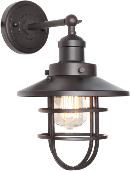 Maxim Mini Hi-Bay 1-Light Wall Sconce Bronze 25070BZ