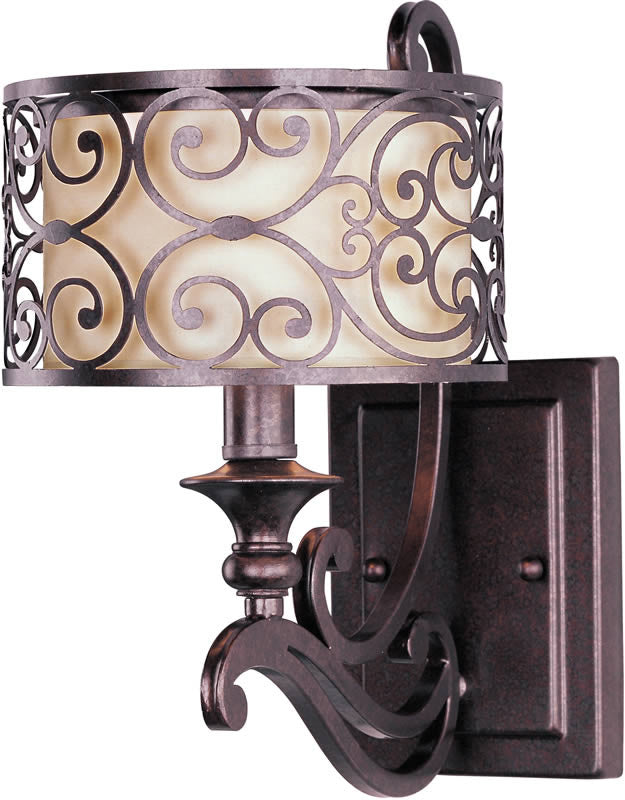 "7""w Mondrian 1-Light Wall Sconce Umber Bronze"