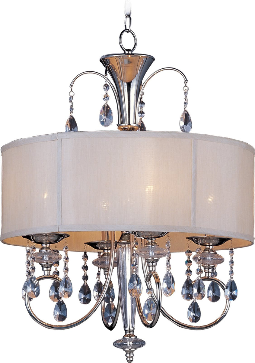 "22""w Montgomery 4-Light Chandelier Polished Nickel"